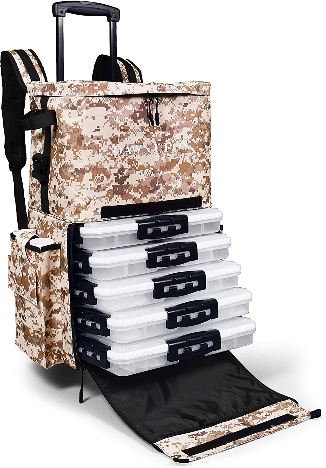 """Max 75% OFF DAWN UPON Large Branded goods Rolling Fishing 24"""" Backpack x – 14âÂ"""