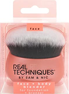 Real Techniques Makeup Brush Blender for Face & Body, Makeup Bag Essential for Foundation & Bronzer