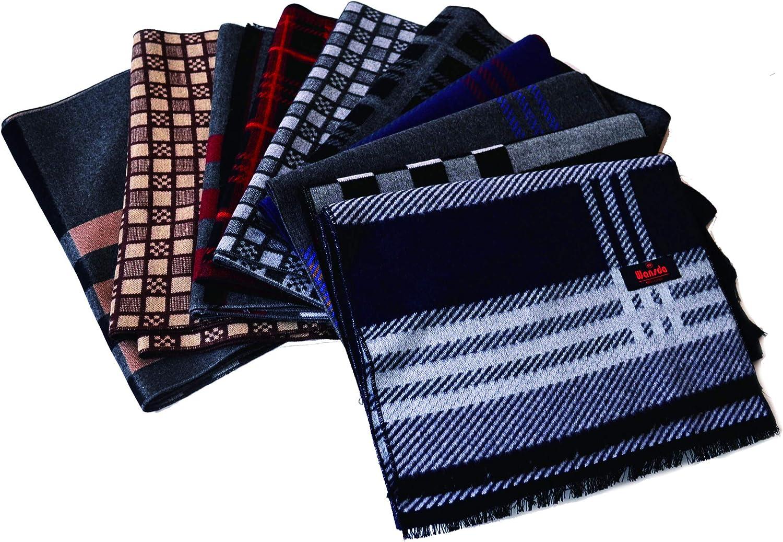 Luxurious Cashmere Feel Winter Scarves Long Warm Soft Fashion Tartan Infinity Colors for Men's Women's