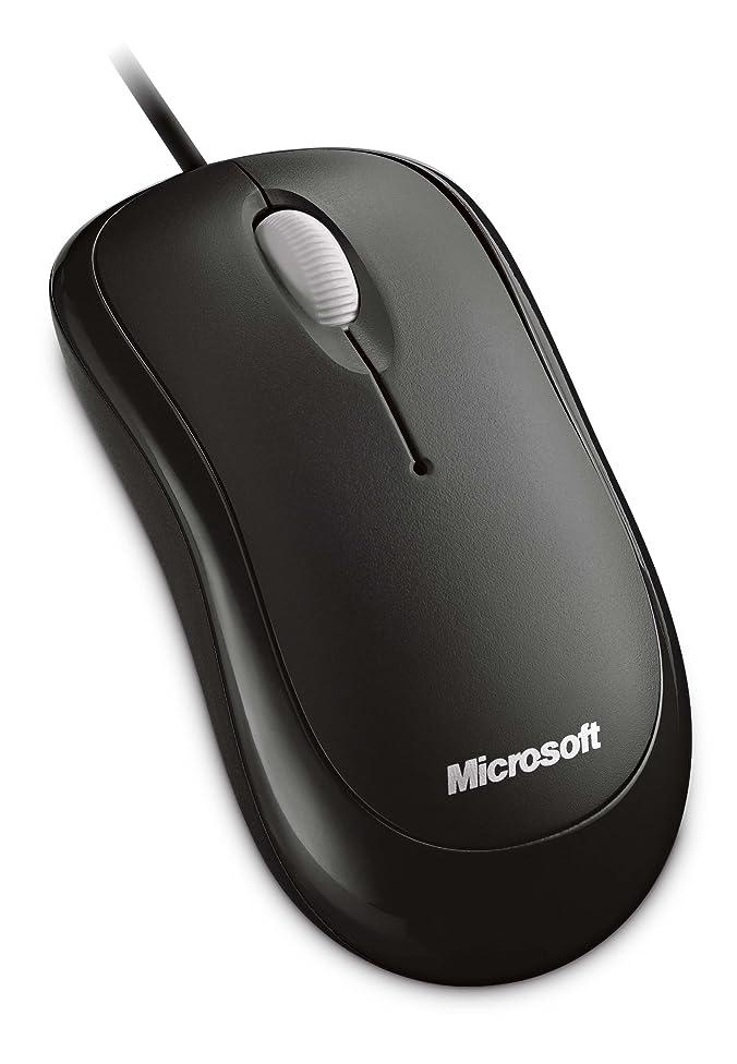 ポンペイ降雨ヘルパーマイクロソフト マウス 有線/USB接続 L2 Basic Optical Mouse Mac/Win セサミブラック P58-00069