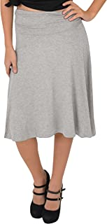 Stretch is Comfort Women's Knee Length Flowy Skirt |...