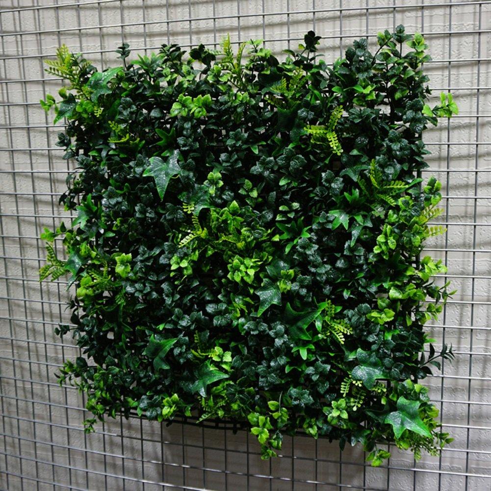 WENZHE Artificial Planta Vid Hiedra Colgante Hojas Interior Exterior Simulación Pared De Fondo Cifrado No Te Desvanezcas Inicio Multifunción, 50 × 50cm (Color : 8 Pieces): Amazon.es: Hogar