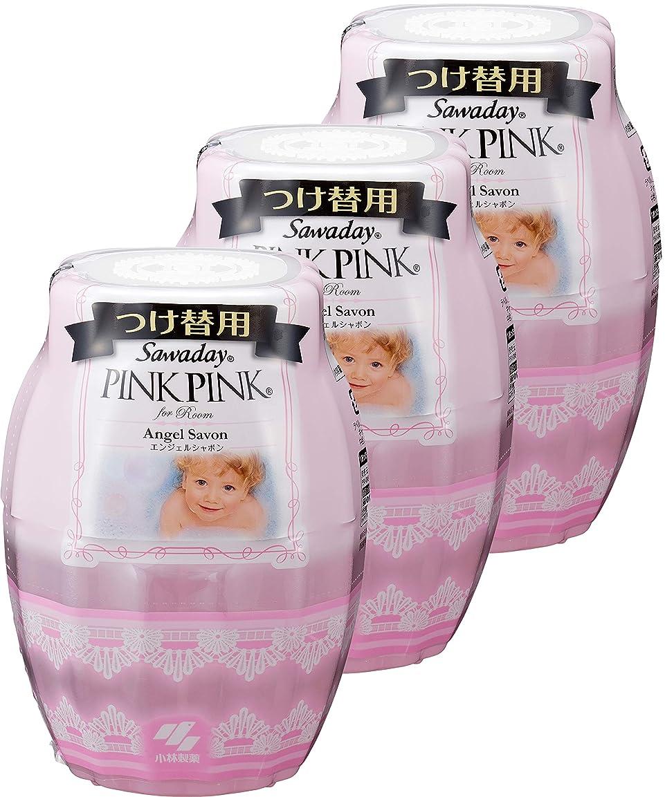 サイレント教養がある政令【まとめ買い】サワデーピンクピンク 消臭芳香剤 部屋用 詰め替え用 エンジェルシャボン 250ml×3個