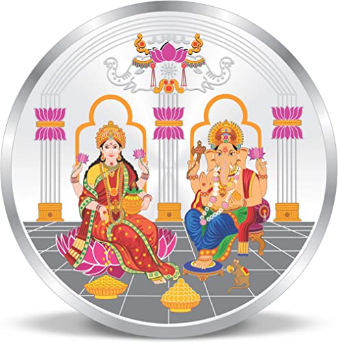 ACPL Precious Moments Maa Laxmi and Ganesh Ji 999 Pure Silver Coin