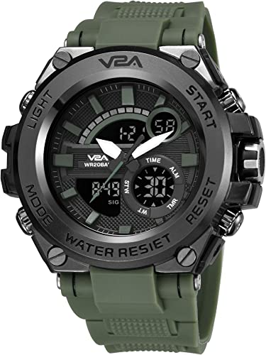 Chronograph Analogue and Digital Sports Watch for Men