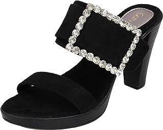 Catwalk Women's Embellished Buckle Slip Ons