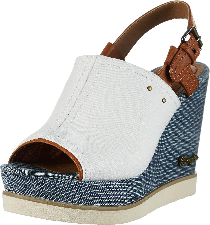 Wrangler Damen Kelly Indigo Sabot Sandalen  | Sehr gute Qualität
