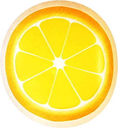 Noble Excellence Sliced Lemon Round Beach Towel, Yellow