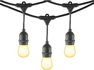 Mr Beams 11W S14 Bulb Incandescent Weatherproof Outdoor String Lights, 24 feet, Black