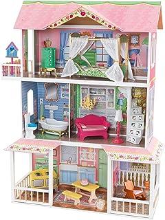KidKraft 65851 Sweet Savannah trädockhus med möbler och tillbehör, lekset med tre spelnivåer för 30 cm dockor