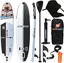 Sponsored Ad – ACTIVEWEIGHT Inflatable Stand Up Paddle Board | Premium SUP Stand Up Paddle Board for Adults/Kids | Kayak S...