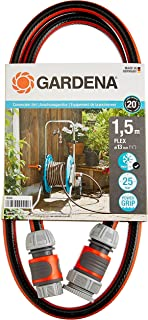GARDENA Connection Set Comfort FLEX, 13 mm (1/2 Inch), 1.5 m: Hose adapter for hooking up the hose trolley, high-quality h...