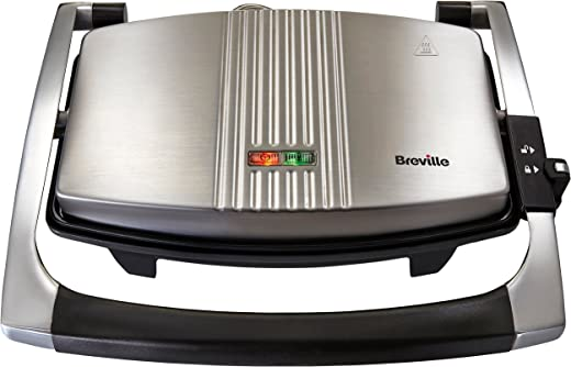 Breville Sandwich/Panini Press and Toastie Maker, 3-Slice, Stainless Steel [VST025]