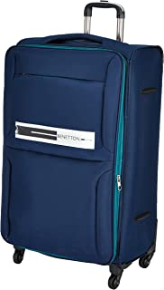 United Colors of Benetton Polyester 70 cms Navy Softsided Check-in Luggage (0IP6EAS28F02I)
