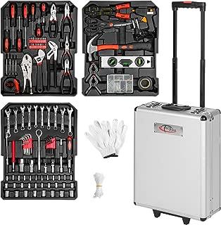 TecTake Maletín con herramientas 577pc piezas maleta