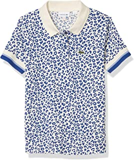 Girls Short Sleeve Leopard All Over Print Polo Shirt