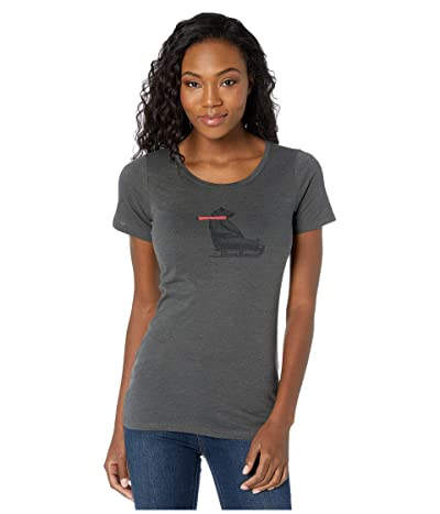 Columbia Outer Boundstm Short Sleeve Tee (Charcoal Heather/Bearly) Women