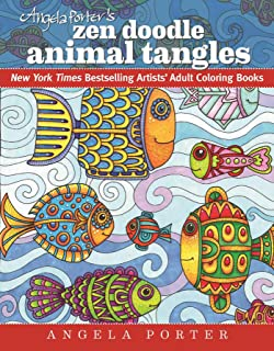 Angela Porter's Zen Doodle Animal Tangles: New York Times Bestselling Artists' Adult Coloring Books