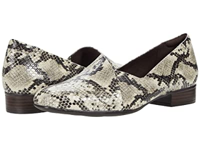 Clarks Juliet Palm (Taupe Synthetic Snake) Women