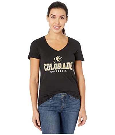 Champion College Colorado Buffaloes University V-Neck Tee (Black 3) Women