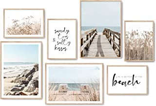 Hyggelig Home Lot de 7 posters de qualité supérieure - 7 images assorties dans un élégant ensemble - Décoration murale - 3...