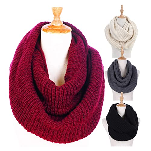 f4d910842c6 Women Winter Knit Infinity Scarf Fashion Circle Loop Scarves Thick Warm  Scarf