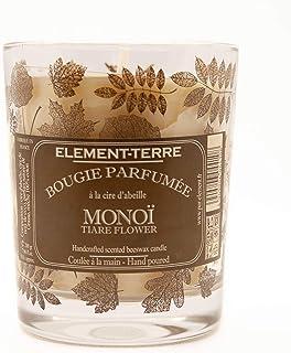 ELEMENT-TERRE Bougie 200 Grammes, 50 Heures Parfum Monoï