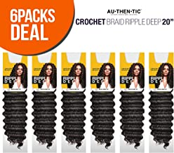 MULTI PACK DEALS! Authentic Synthetic Hair Crochet Braids Ripple Deep 20