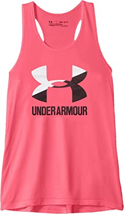 UA Big Logo Slash Tank Top (Big Kids)