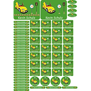 Libri e Materiale Scolastico DIN A4-109 Razzo 69 Autocollants en plusieurs Tailles pour Votre Enfant Nome Adesivo Etichette adesive Personalizzate per quaderni /à l/école