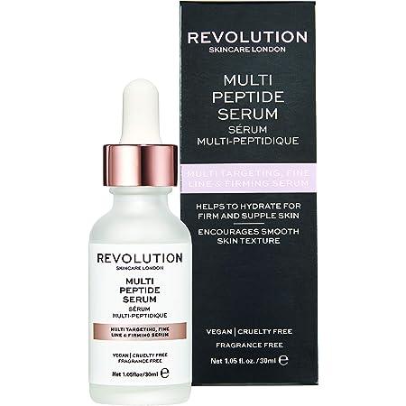 Makeup Revolution Skincare Multi Peptide Serum, White, 30ml