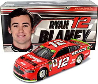 Lionel Racing Ryan Blaney #12 Wrangler 2018 Ford Fusion NASCAR Diecast 1:24 Scale