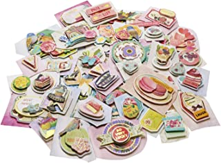 Penta Angel 3D Themes Embellishments Die-Cut Stickers Vintages Scrapbooking Stickers Supplies for DIY Card Making Art Craft Decorative, 57Pcs
