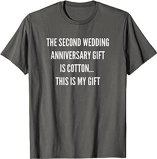2nd Wedding Anniversary Gifts Cotton Him Husband Her T-Shirt