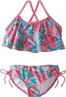 Kanu Surf Girls' Ariel Flounce Bikini Swimsuit