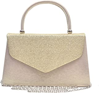Dasein Women's Evening Bag Party Clutches Wedding Purses Cocktail Prom Handbags with Frosted Glittering