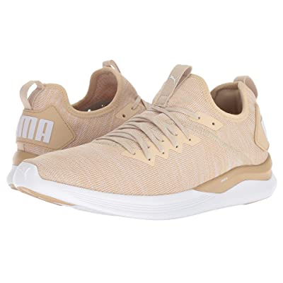 PUMA Ignite Flash evoKNIT (Pebble/Whisper White/Puma White) Men