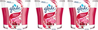 Glade Jar Candle, Blooming Peony and Cherry, 3.4 Ounce (Pack of 3)