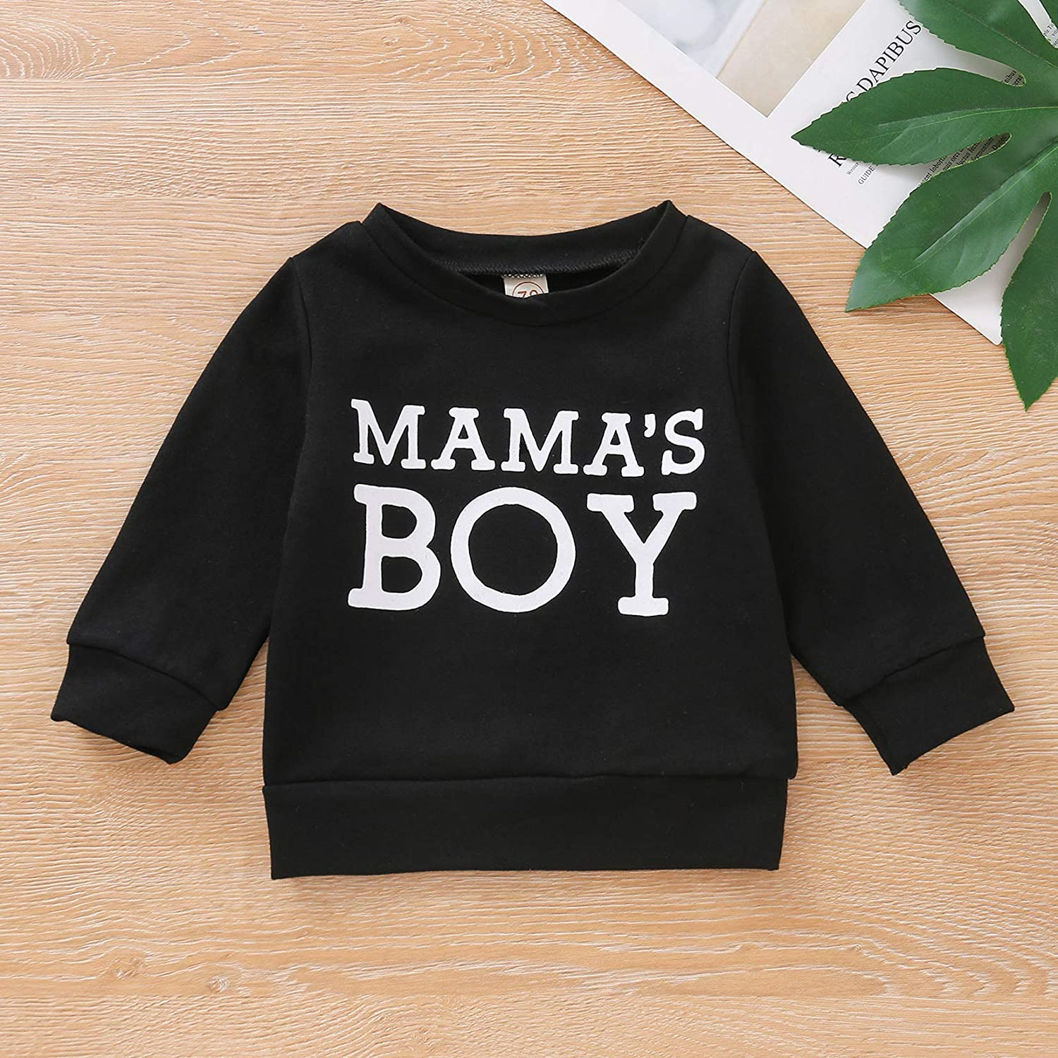 Dourbesty Toddler Boys Girls Hoodies Sweatshirt Mamas Girl Print Long Sleeve Pullover Tops Fall Winter Outfit Clothes