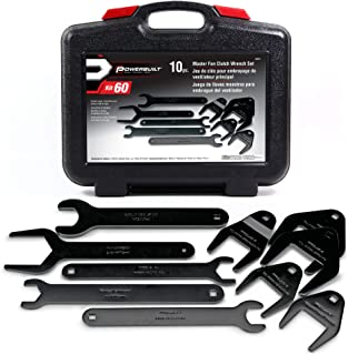 Powerbuilt 648651 Fan Clutch Wrench Master Kit New 10 piece Kit,Black