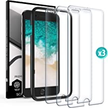 Screen Protector for iPhone 7 Plus - iPhone 8 Plus - iPhone 6 6S Plus - Film Tempered Glass Scratch Resistant Impact Shield Glass Case Friendly Anti Fingerprint