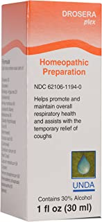 UNDA - Drosera Plex - Homeopathic Remedy Formulated to Assist with Temporary Relief of Coughing* - 1 fl oz (30 ml)