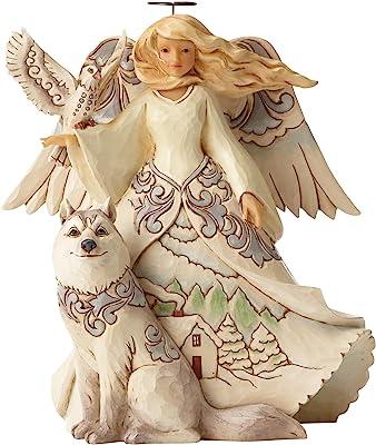 Jim Shore Heartwood Creek JS HWC Fig Wdlnd Angel/White Figurine