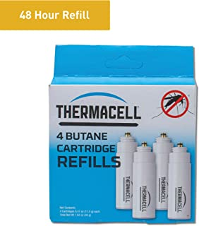 Thermacell Mosquito Repellent Fuel-Only Refills, 4-Pack; Cartridges Last 12 Hours Each; Use with Thermacell Fuel-Powered Mosquito Repellent Repellers, Lanterns and Torches; Repellent Mats Not Included