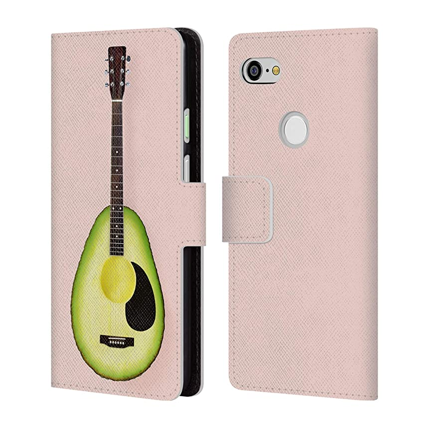 Official Paul Fuentes Avocado Guitar Pastels Leather Book Wallet Case Cover for Google Pixel 3 XL