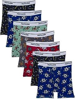 Fruit of the Loom Cotton Boxer Brief Underwear Cierre (Pack de 10) para Niños