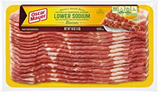 Oscar Mayer Low Sodium Bacon, Naturally Hardwood Smoked (16 oz Package)