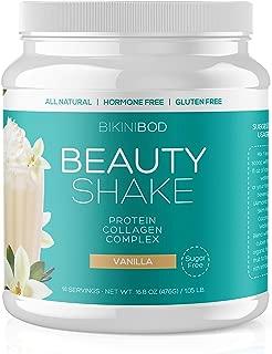 Collagen Protein Powder Hydrolyzed Collagen Peptide Whey Protein 23g| Collagen Hydrolysate Shake (16oz)| Grass Fed Whey Beef & Fish Collagen I,II| Sugar, Hormone Free| Gluten Free| Vanilla