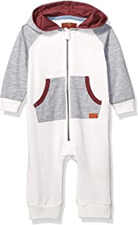 7 For All Mankind Baby-Boys RBN6037 Hooded Coverall Footie