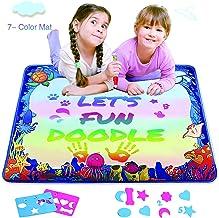Water Drawing Mat for Kids, Play Pad Educational Gifts Developmental Toys Coloring Water Magic Mats Scribble Board Pad Pai...